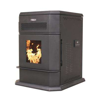 2200 sq. ft. EPA Certified Pellet stove with 120 lb. Hopper and Remote Control