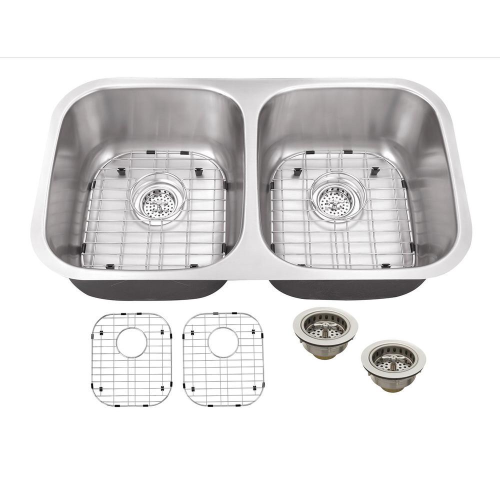 IPT Sink Company Undermount 32 in. 16-Gauge Stainless Steel ...
