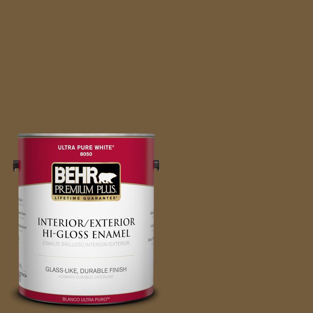 BEHR Premium Plus 1-gal. #300F-7 Centaur Hi-Gloss Enamel Interior/Exterior Paint