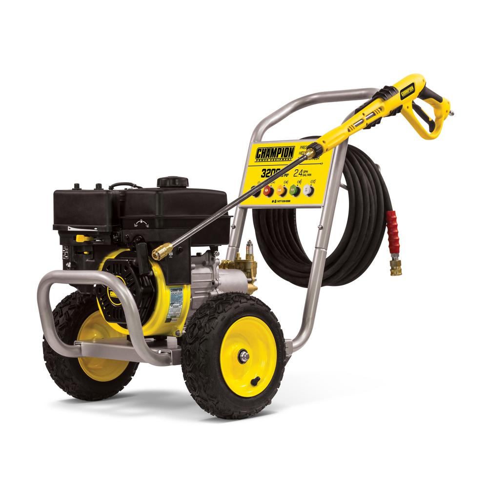 Champion Power Equipment 3200 psi 2.4 GPM Gas Powered Wheelbarrow Style Pressure Washer