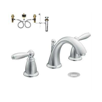 Brantford 8 in. Widespread 2-Handle Bathroom Faucet Trim Kit with Valve in Chrome