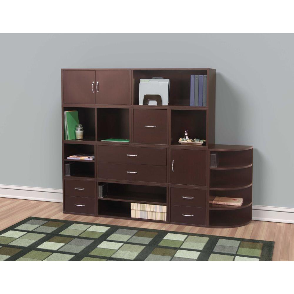 15 in. x 15 in. Espresso Door 1-Cube Organizer