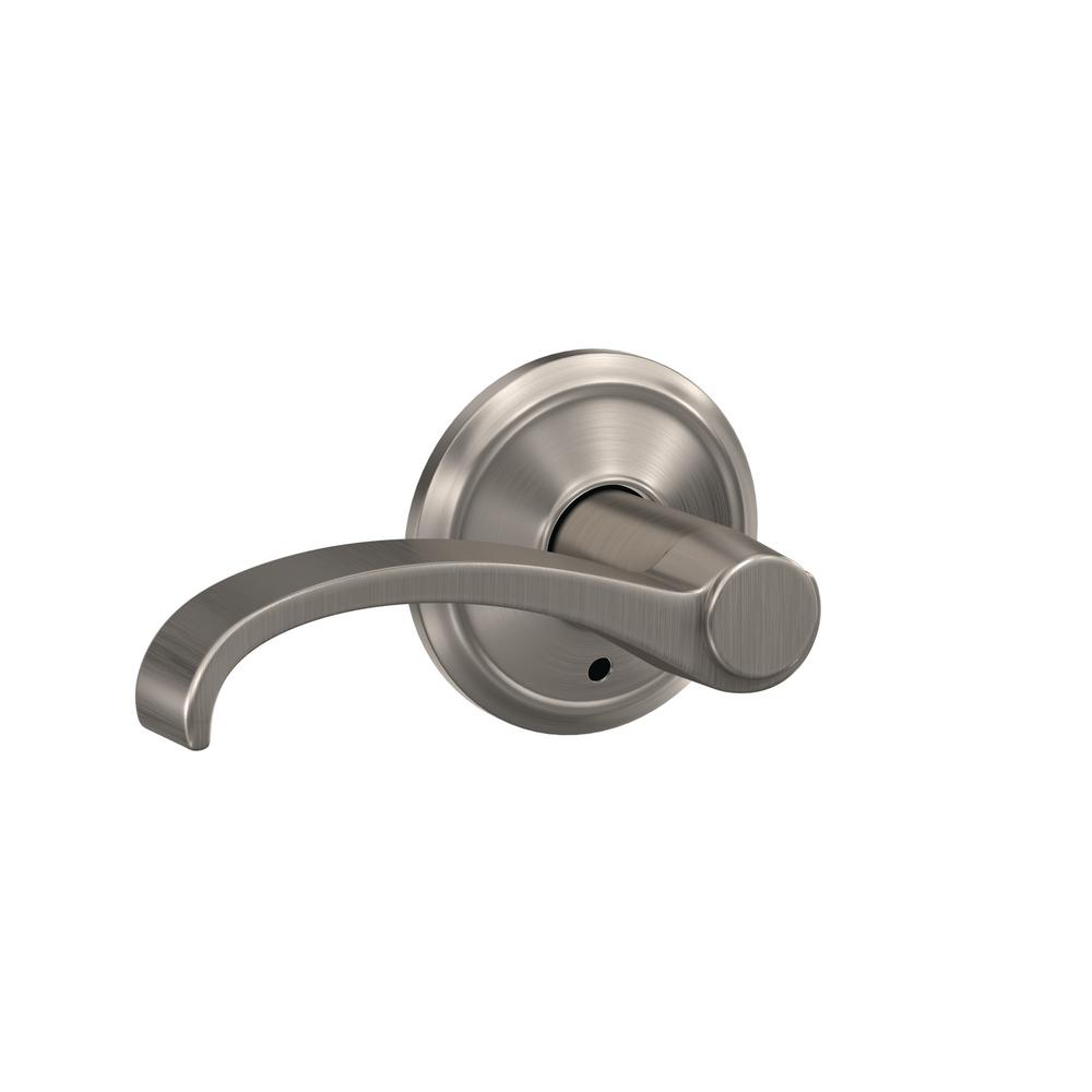 Schlage Custom Whitney Satin Nickel Alden Trim Combined Interior Door Lever Fc21 Wit 619 Ald