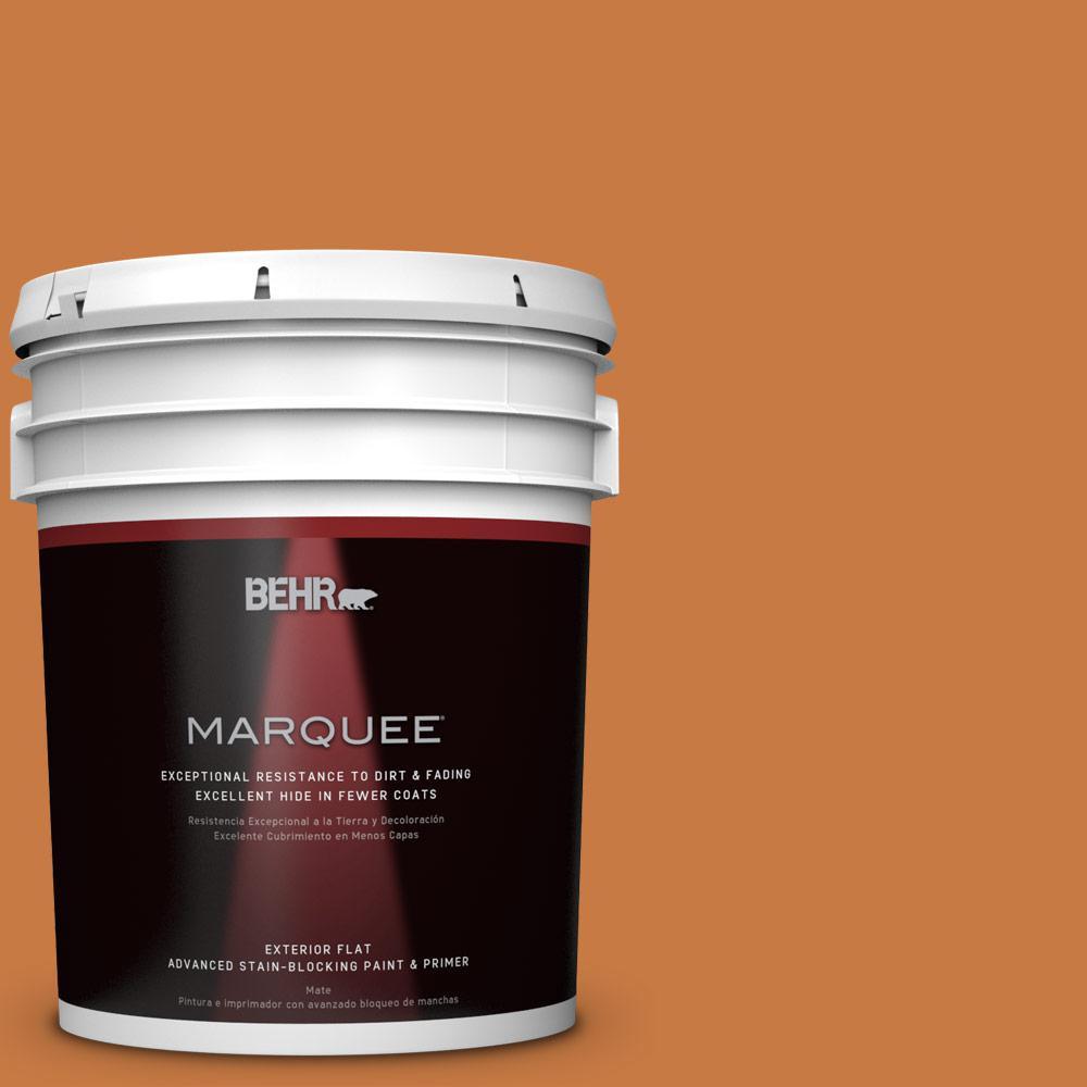 5-gal. #M230-7 Rumba Orange Flat Exterior Paint