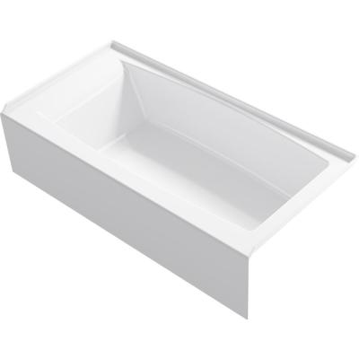 Elmbrook 60 in. Right-Hand Drain Rectangular Alcove Bathtub with Integral Apron in White