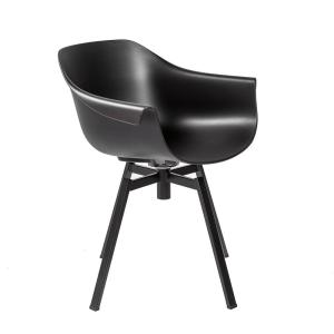 Marvelous Eurostyle Helia Black Swivel Arm Chair Set Of 2 90339Blk Alphanode Cool Chair Designs And Ideas Alphanodeonline