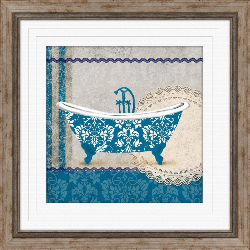 """19 in. x 19 in. """"Garden Bath B"""" Framed Wall Art"""