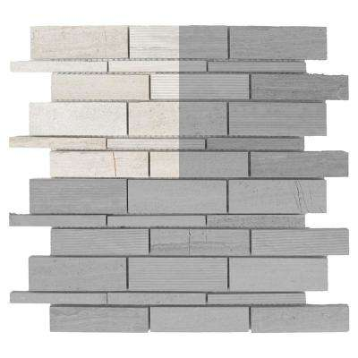 Tranquil Stone 3 in. x 6 in. x 10 mm Limestone Mosaic Tile Sample
