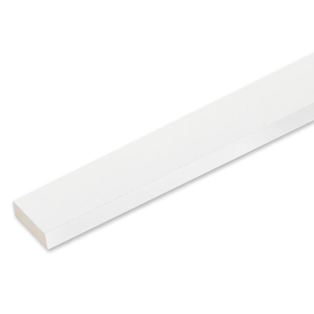 5/4 in. x 3 in. x 10 ft. White PVC Reversible