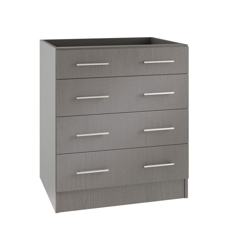 Gentil WeatherStrong Assembled 30x34.5x24 In. Key West Open Back Outdoor Kitchen Base  Drawer Cabinet