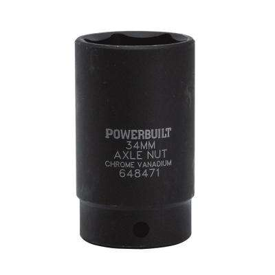 1/2 in. Drive 34 mm 6-Point Axle Nut Standard Socket