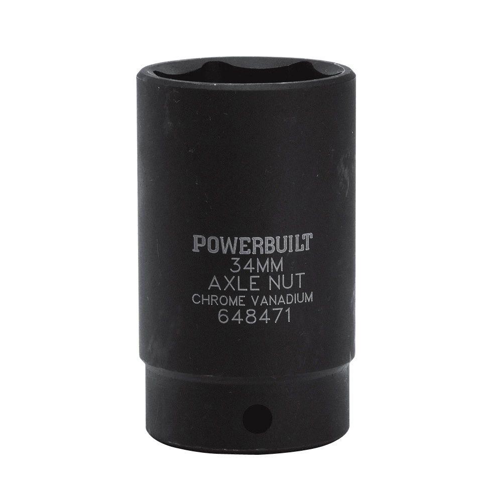 1/2 in. Drive 34 mm 6-Point Axle Nut Standard Socket