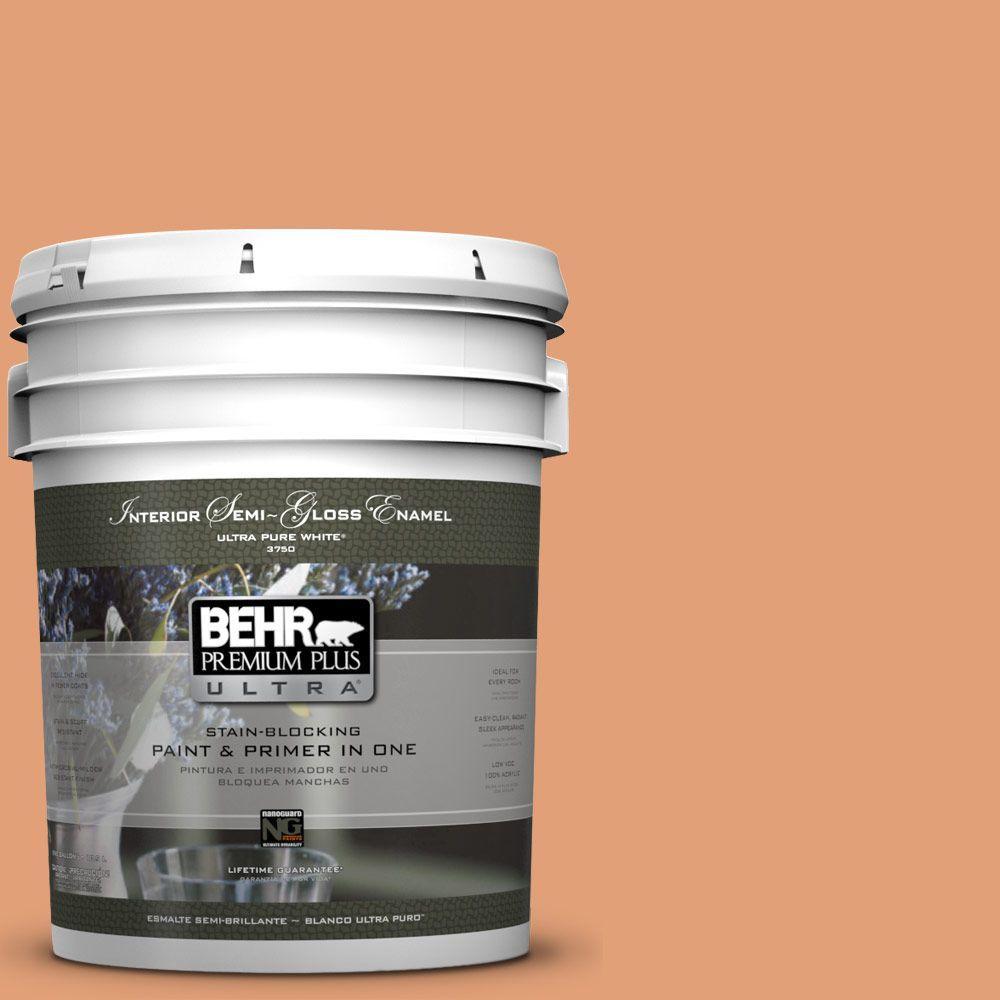 5-gal. #M220-5 Roasted Seeds Semi-Gloss Enamel Interior Paint