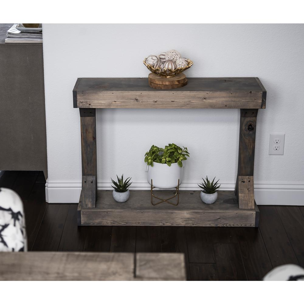 Barb Gray Small Console Table