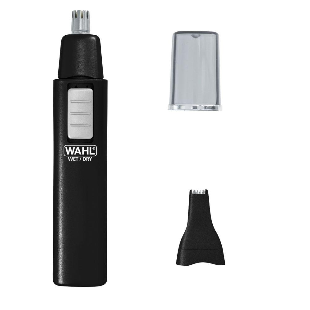 wahl ear nose brow 2 in 1 trimmer in black 5567200 the home depot. Black Bedroom Furniture Sets. Home Design Ideas