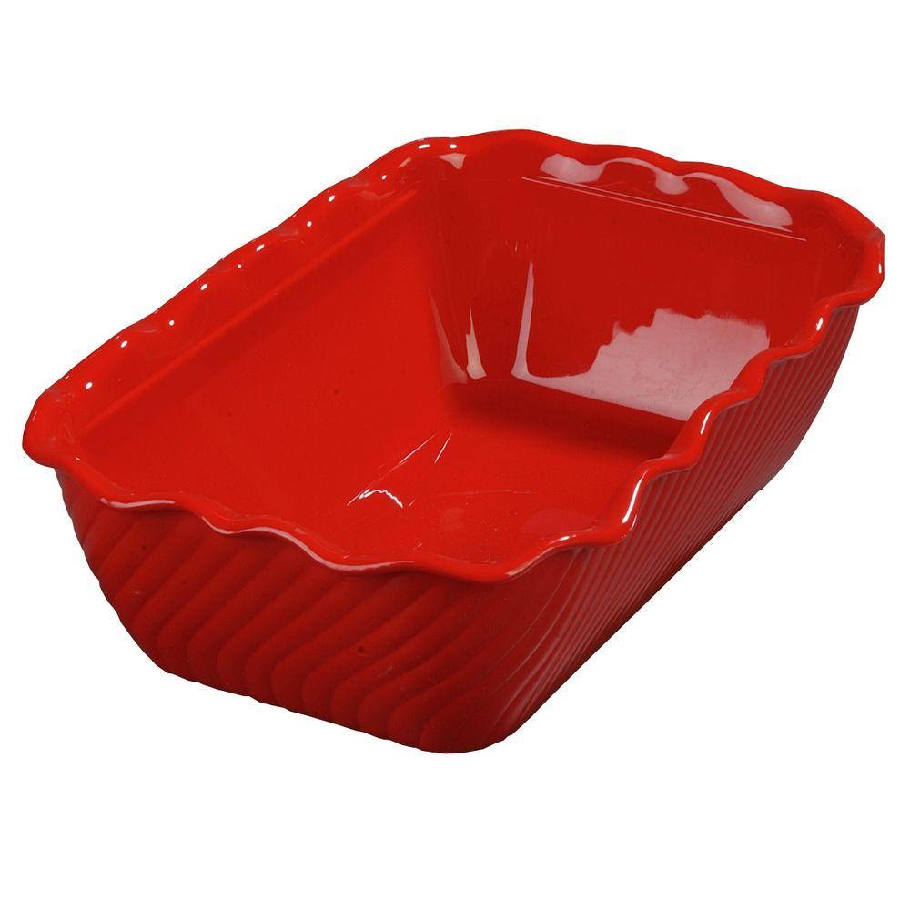 Carlisle 5 lb. SAN Plastic Tulip Deli Crock in Red (Case of 6)