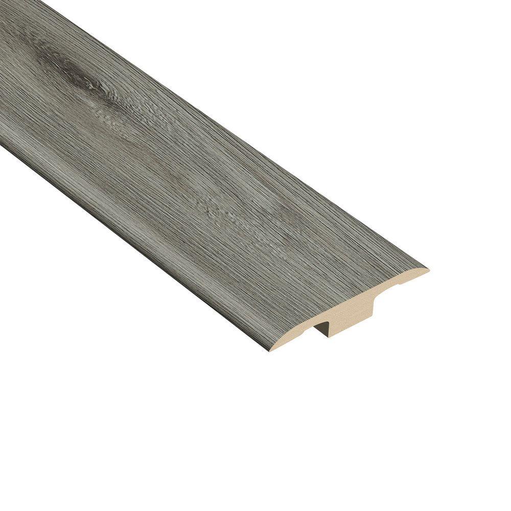 Oak Gray 1/4 in. Thick x 1-3/8 in. Wide x 94-1/2 in. Length Vinyl T-Molding