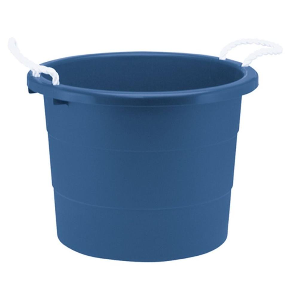 united solutions 10 gal rope handle tub in blue tu8034 the home depot. Black Bedroom Furniture Sets. Home Design Ideas