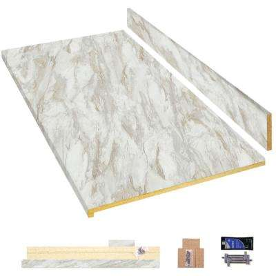 8 ft. Laminate Countertop Kit in Drama Marble with Ora Edge