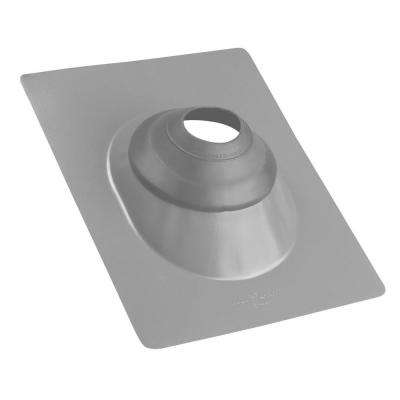 No-Calk 3 in. to 4 in. Galvanized Gray Roof Flashing