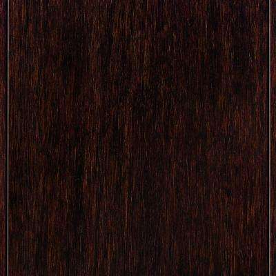 Hand Scraped Strand Woven Walnut 3/8 in. Thick x 5 in. Wide x 36 in. Length Click Lock Bamboo Flooring (25 sq. ft./case)