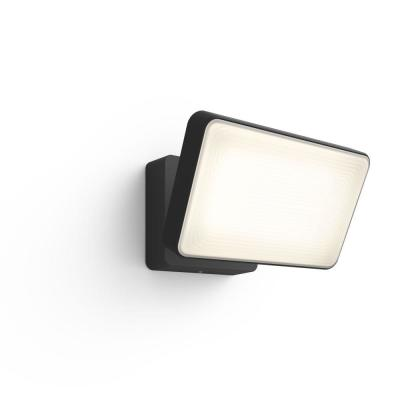 White and Color Ambiance Discover Black Outdoor Integrated LED Flood Light