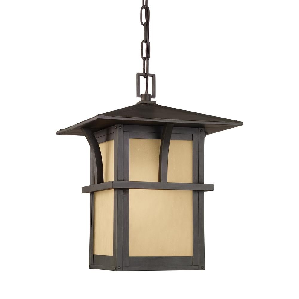 Medford Lakes Statuary Bronze 1-Light Outdoor Hanging Pendant