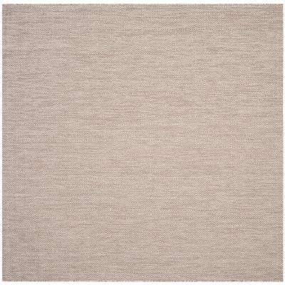 Beige - Square - Solid/Gradient - Outdoor Rugs - Rugs - The Home Depot