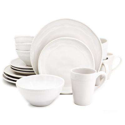 Algarve 16-Piece White Dinnerware Set