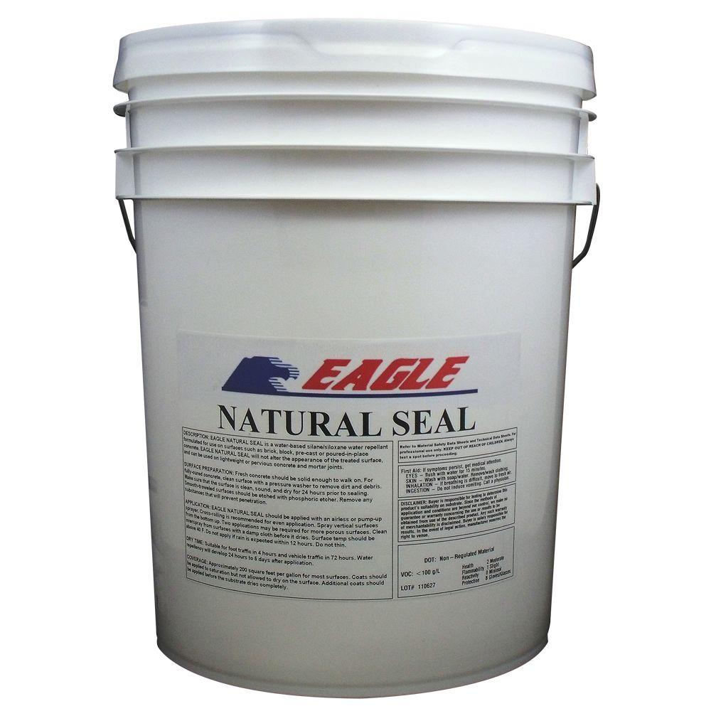 Eagle 5 gal  Natural Seal Penetrating Clear Water-Based Concrete and  Masonry Water Repellant Sealer and Salt Repellant