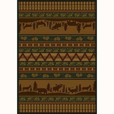Pine Valley Rust 5 ft. 3 in. x 7 ft. 6 in. Contemporary Lodge Area Rug