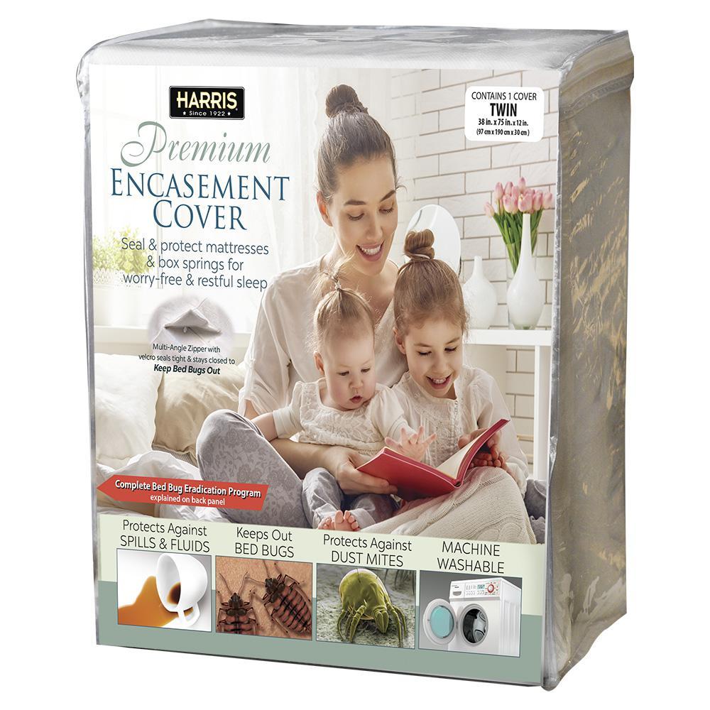 Mattress or Box Spring Protective Encasement Cover