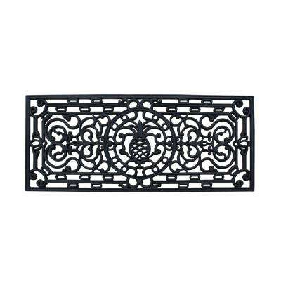First Impression 18 in. x 41 in. Audie Rubber Entry Double Door Mat