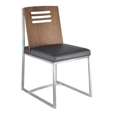 Shirley Grey Faux Leather Dining Chair