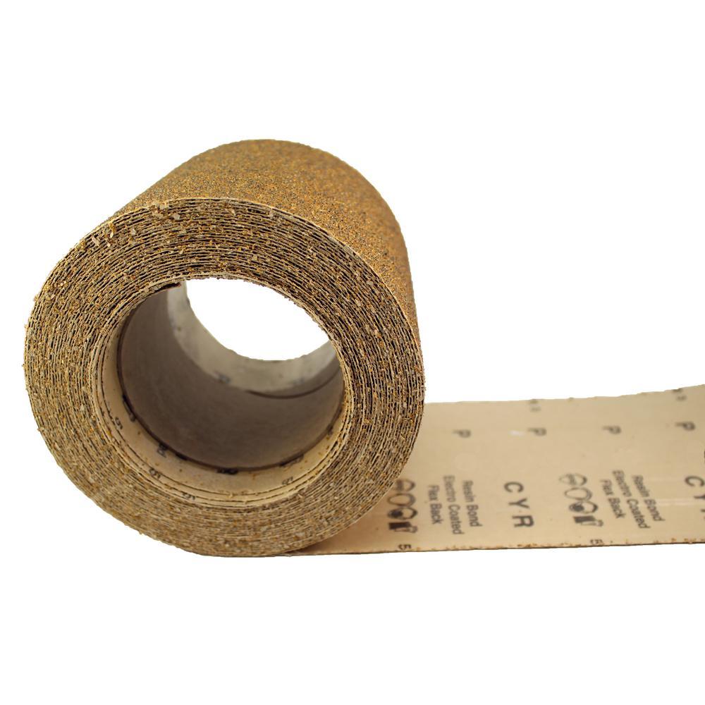 Karebac 4 1 2 In 80 Grit Psa Stick On Heavy E Weight Aluminum Oxide Sandpaper Rolls 10 Yds Rhw80 The Home Depot