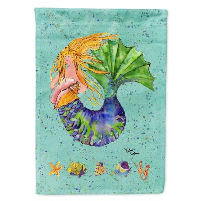 Caroline S Treasures 11 In X 15 1 2 In Polyester Mermaid 2 Sided 2 Ply Garden Flag 8336gf The Home Depot
