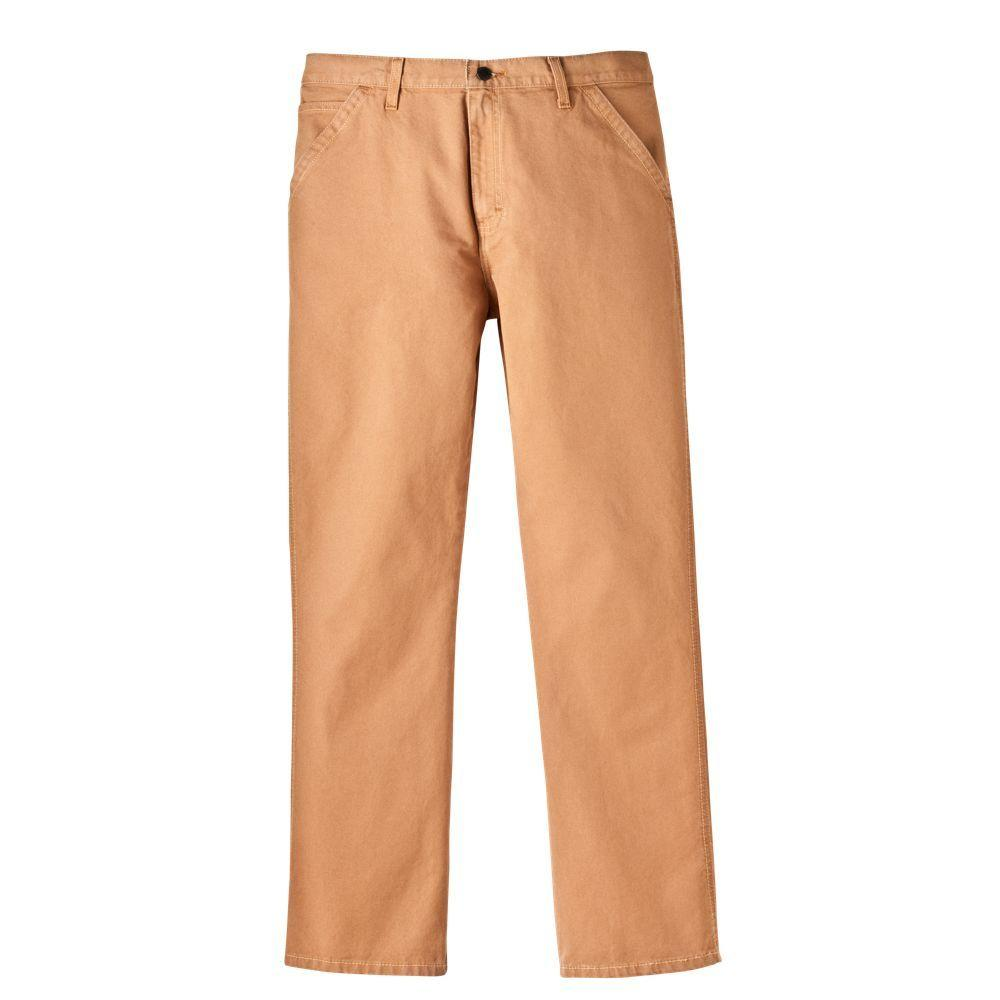 Dickies Relaxed Fit 44 in. x 30 in. Cotton 5-Pocket Jean Brown Duck-DISCONTINUED