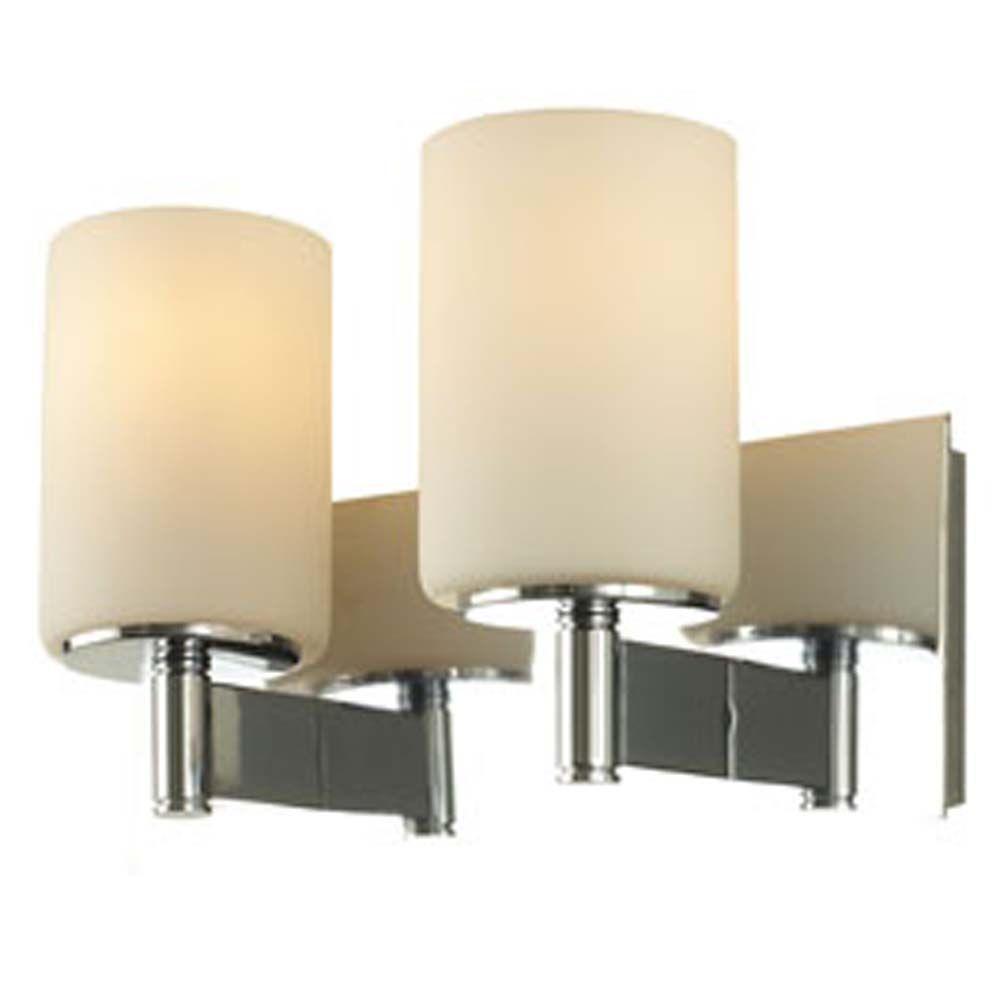 Filament Design Spectra 2-Light Chrome Bath Vanity Light