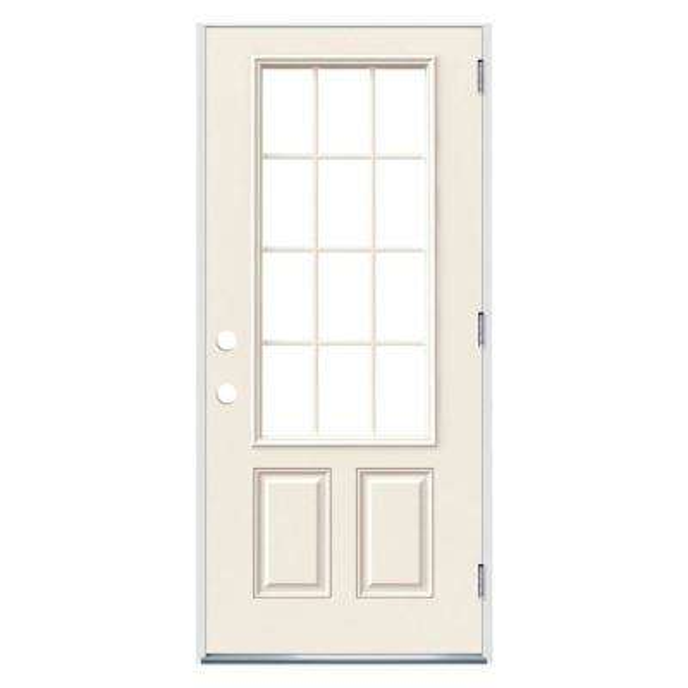 Wood Farmhouse Jeld Wen Steel Doors With Glass Steel Doors The Home Depot