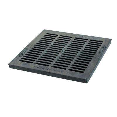 18 in. x 18 in. Square Grate, Black