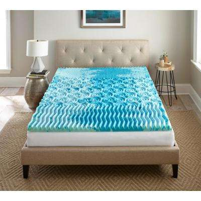 2 in. Queen Gellux Gel Memory Foam Mattress Topper