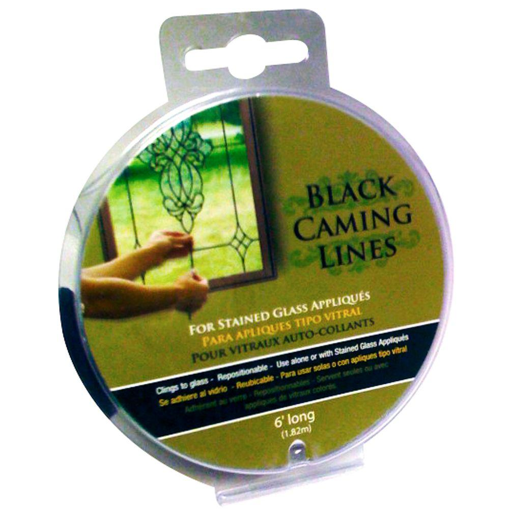 Brewster 6 ft. Black Caming Line for Stain Glass (2-Pack)