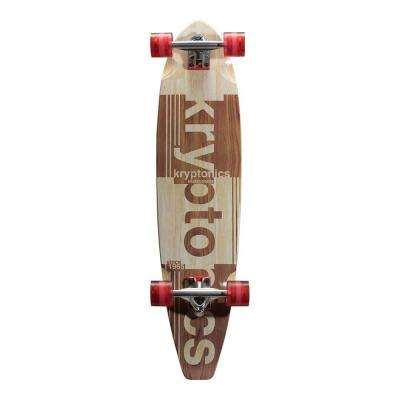36 in. Authentic 65 Blocktail Longboard Complete Skateboard