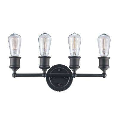 Underwood 4-Light Rubbed Oil Bronze Bath Light