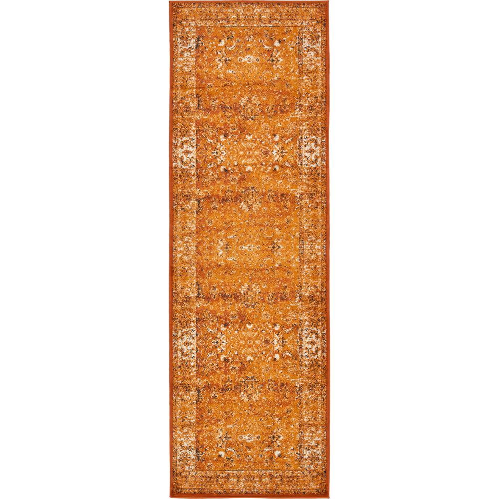 Istanbul Terracotta and Ivory 3 ft. x 9 ft. 10 in. Runner Rug