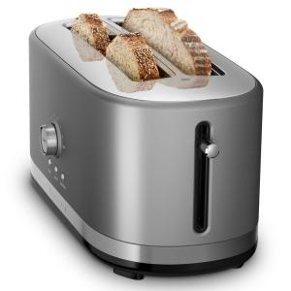 KitchenAid 4 Slice Contour Silver Toaster KMT4116CU The Home Depot