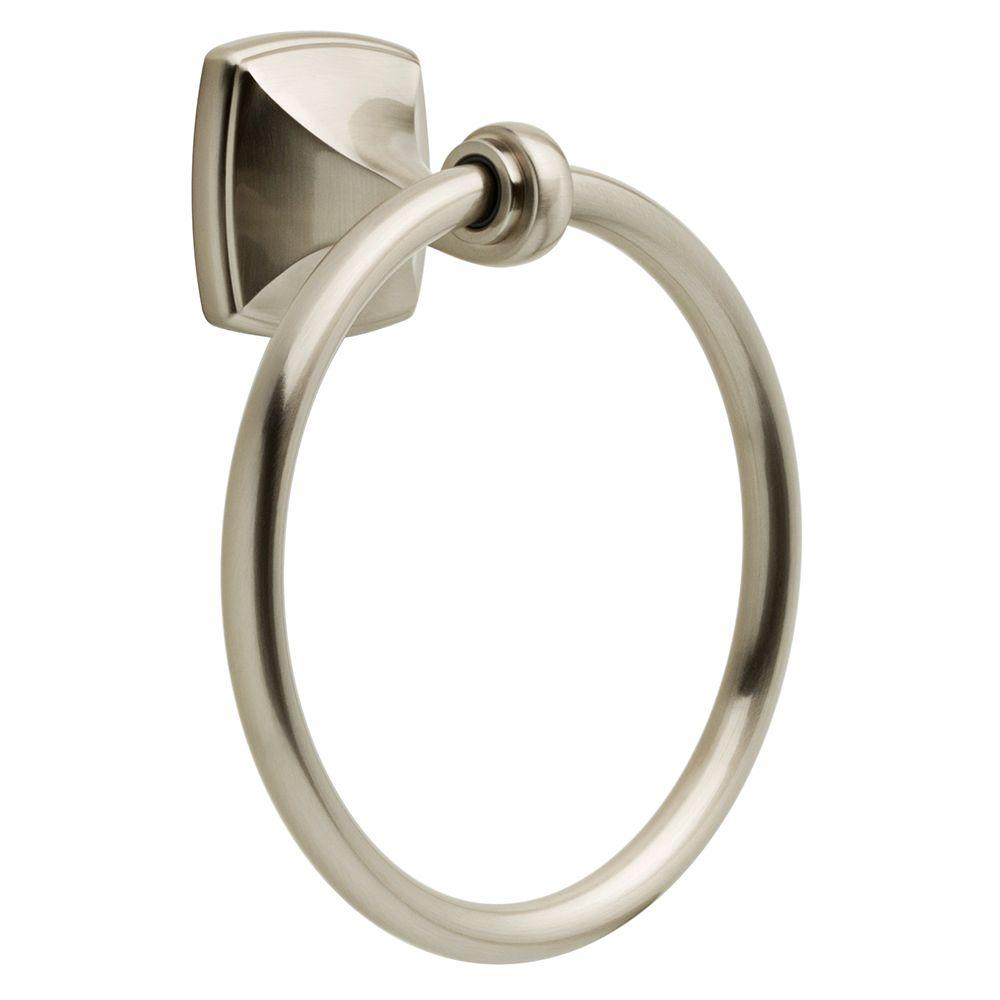 Amaya Towel Ring in Brushed Nickel