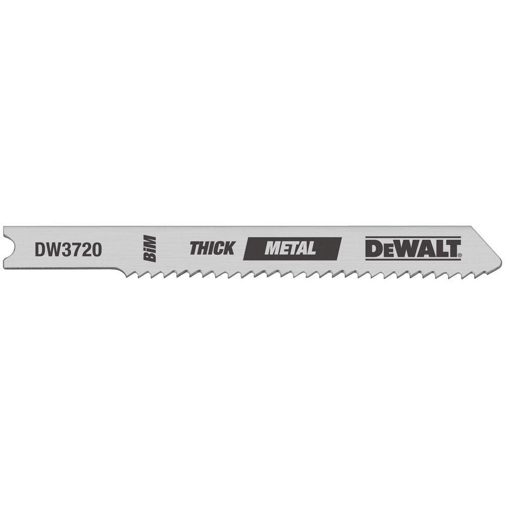 DEWALT 3 in. 14 TPI Thick Metal Cutting Jig Saw Blade Bi-Metal U-Shank (5-Pack)