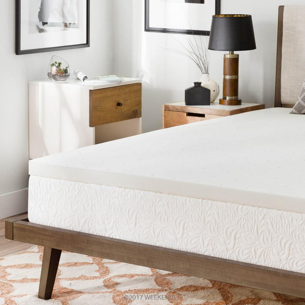 bed foam mattress reviews reversible curv pad wayfair topper memory bath gel pdx simmons