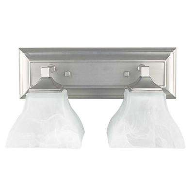Kovach 2-Light Satin Nickel Bath Vanity Light